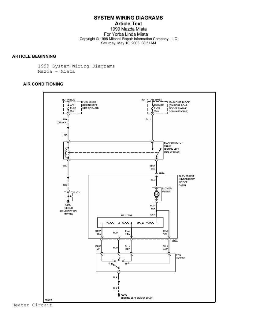Mazda Miata Air Con Wiring Diagram on 1999 Mazda Miata Radio Wiring Diagram