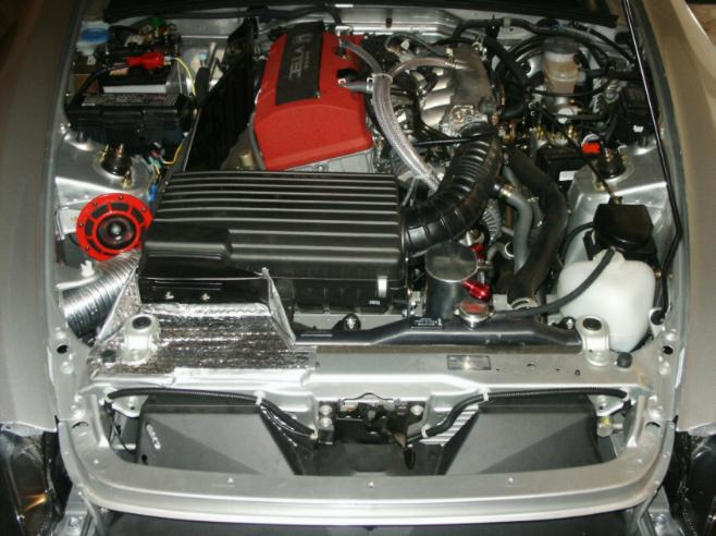 i placed the 500hz horn in the engine bay and the 375hz horn in front of  the radiator