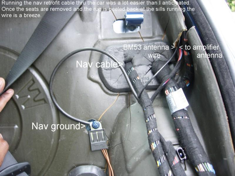 BMW E46 nav ground, nav cable, B53 antenna wire