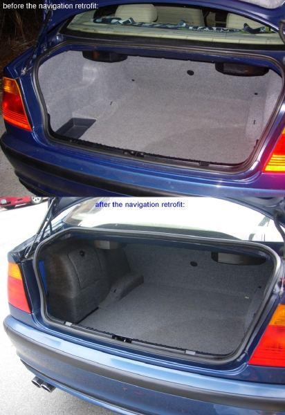 BMW E46 trunk