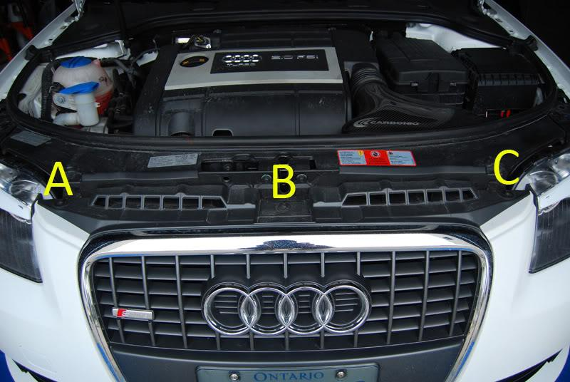Audi A3 torx screws for grille