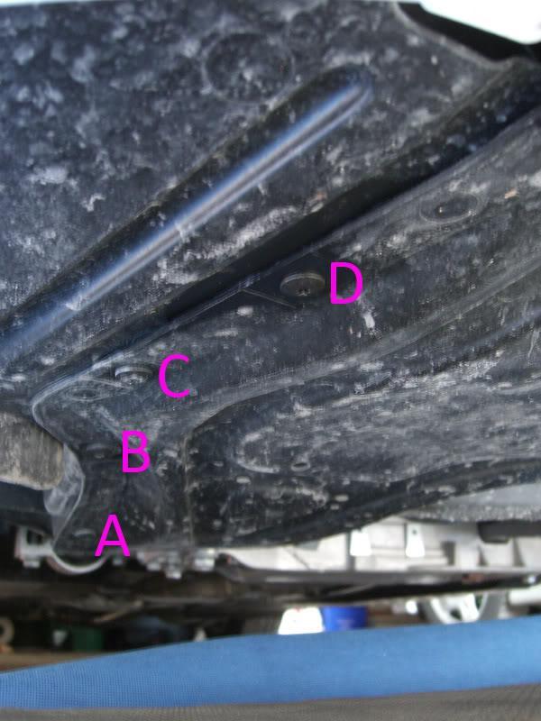 Audi A3 bottom torx screws