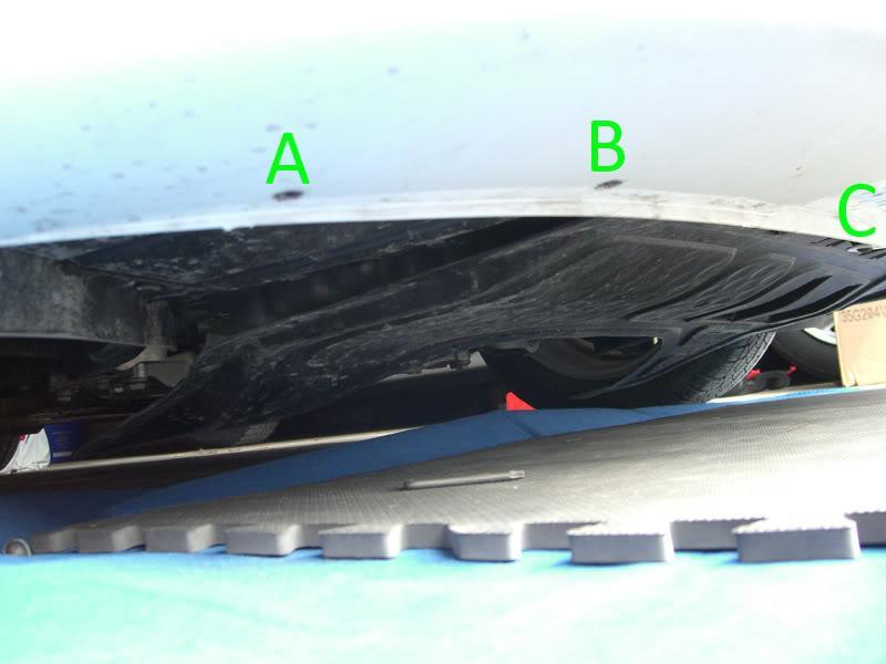 Audi A3 underside torx screws