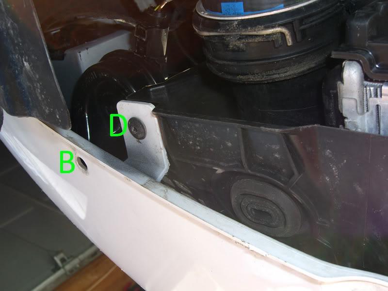 Audi A3 bumper screws