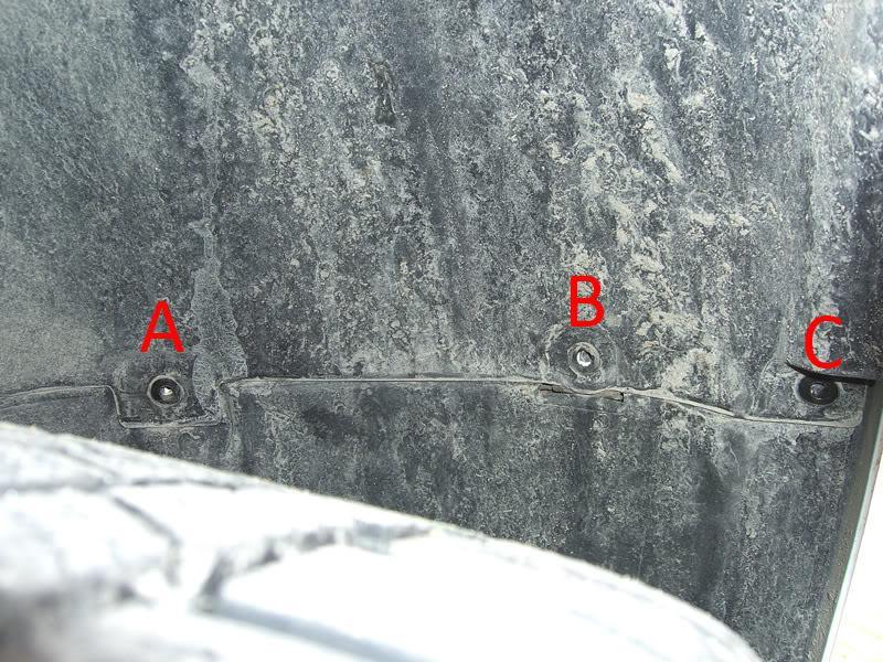 Audi A3 bumper fender well screws