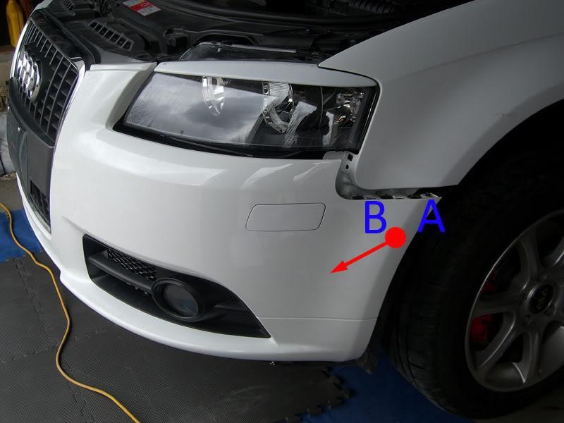 Audi A3 removing front bumper