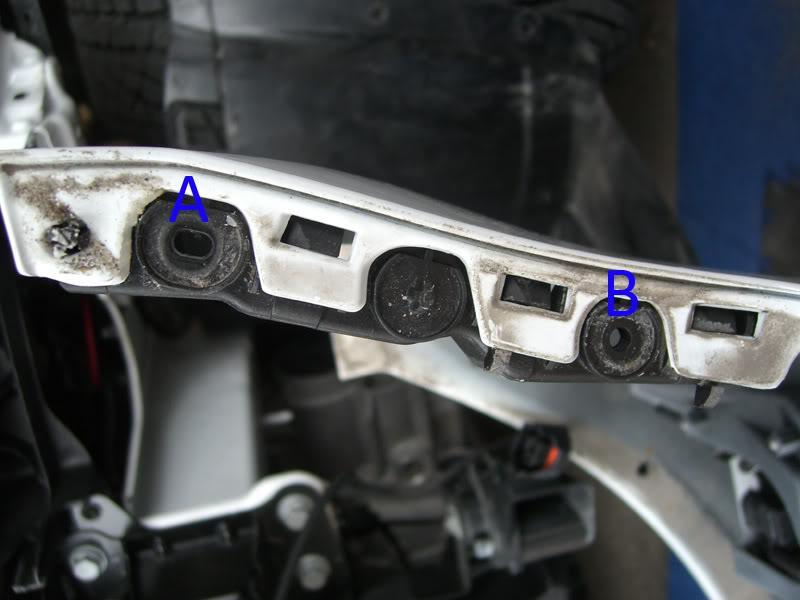 Audi A3 fender bumper bolts