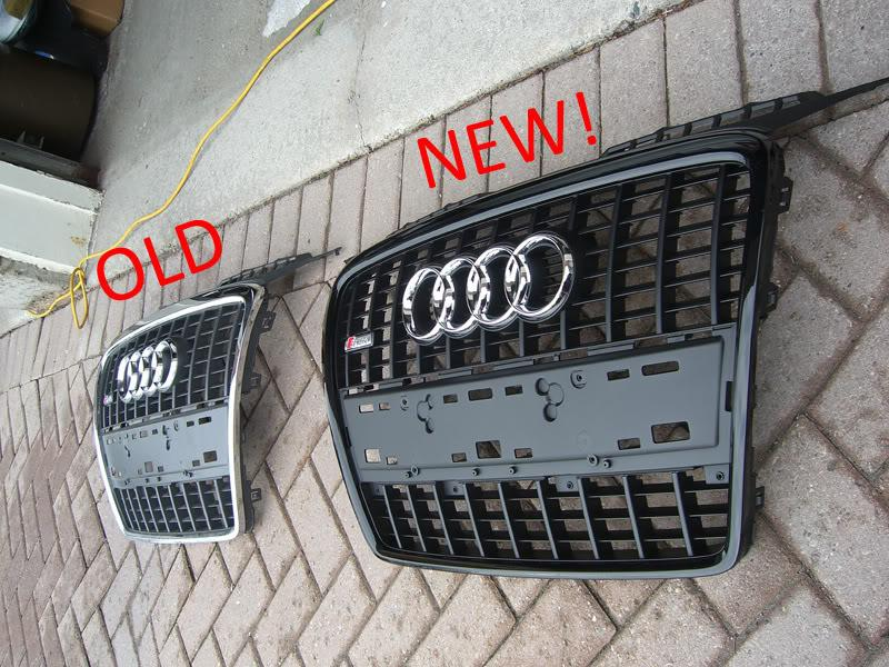 Audi A3 chrome and black out grille