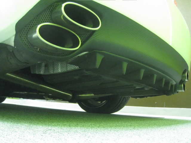 EXACT Motorsports: Exclusive IS-F Custom Finned Diffuser by EXACT