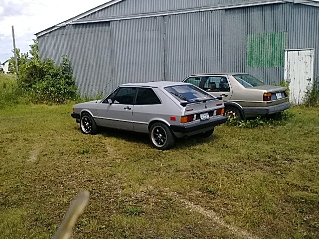 '78 Scirocco mkI with a swap to a '85 GTI 1.8L 10.0:1 comp with MS1  w/5spd. .75 5th gear