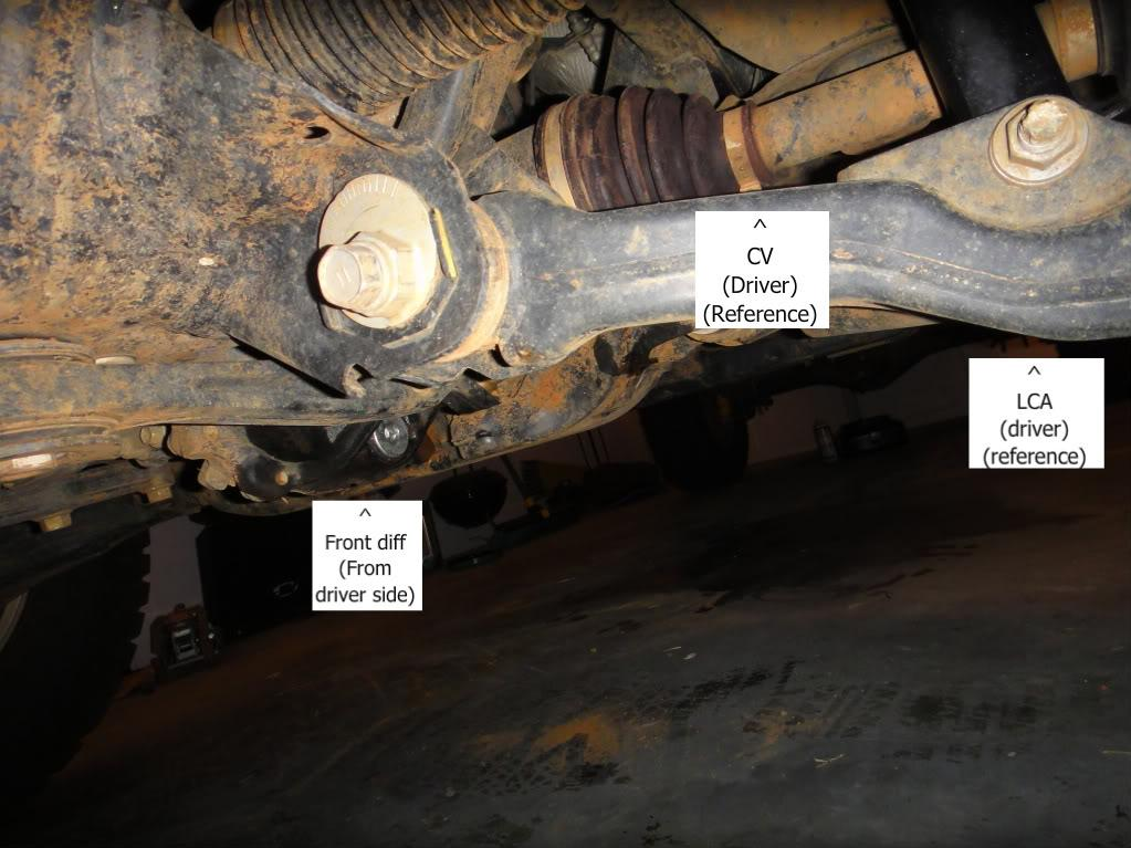 Front Diff And Transfer Case Oil Change Howto By Jspadaro