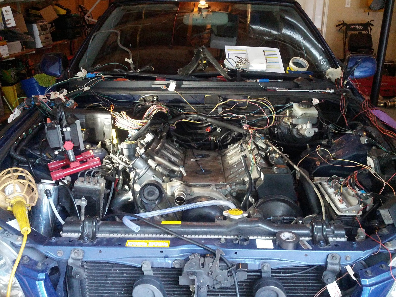 Is300 Ls1 T56 Daily Driver Build By Eng1nerd Lexus Is Xe10 Wiring Harness And Ecu For I Didnt Get Any Pictures Of The But It Was A Giant Mess Wires That Got Thinned Out Similar To 2jz