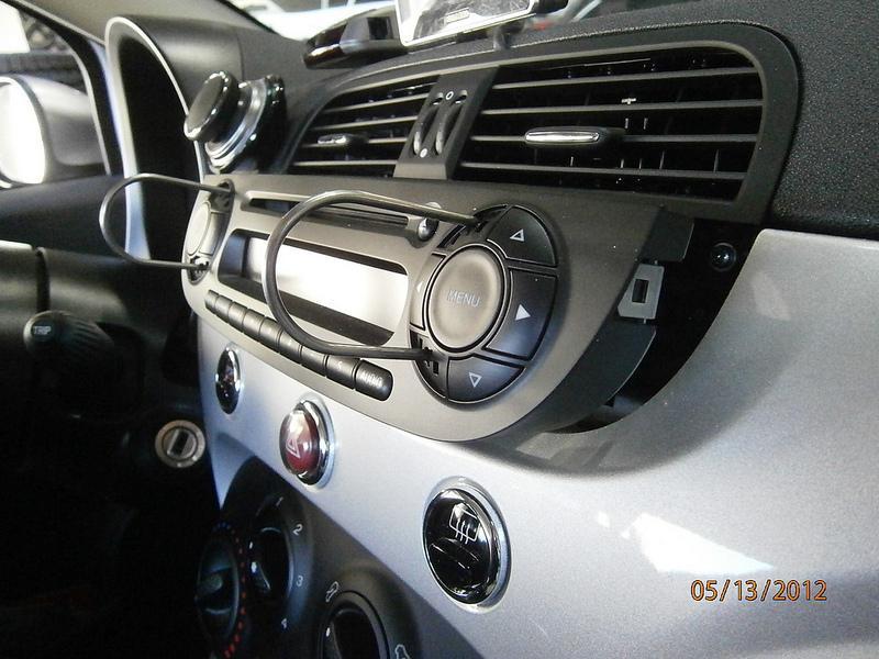 2012 fiat 500 din radio install by troy audi0
