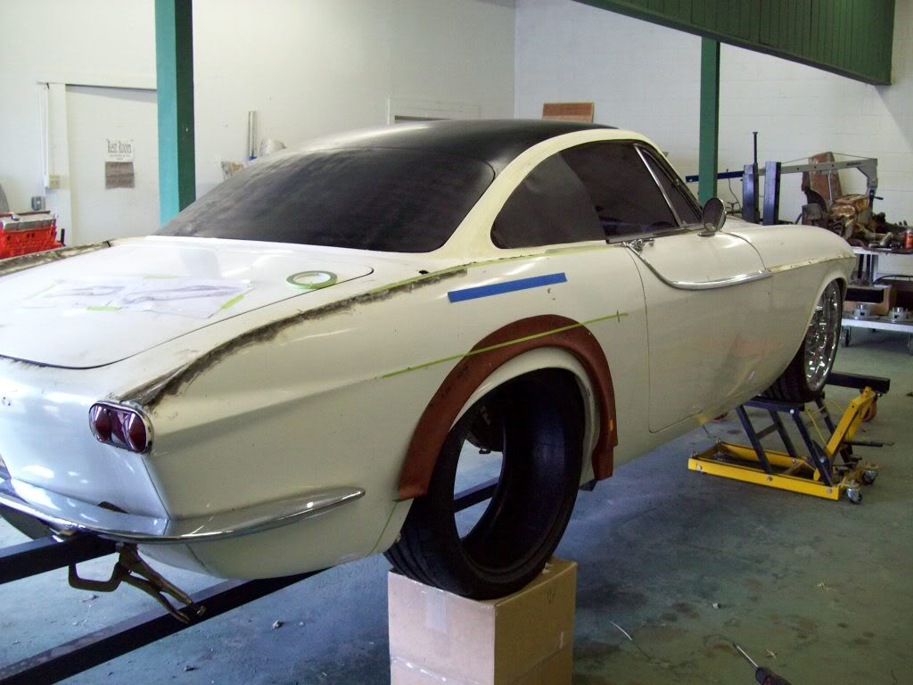 Volvo P1800 rear arches