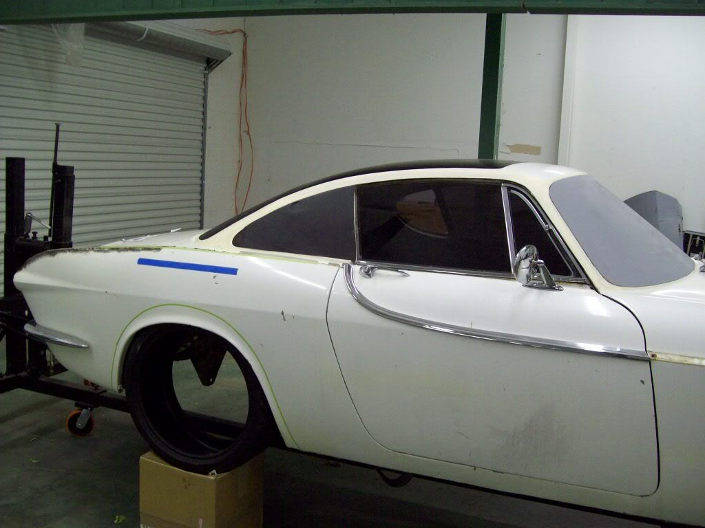 Volvo P1800 flush quarter panel glass
