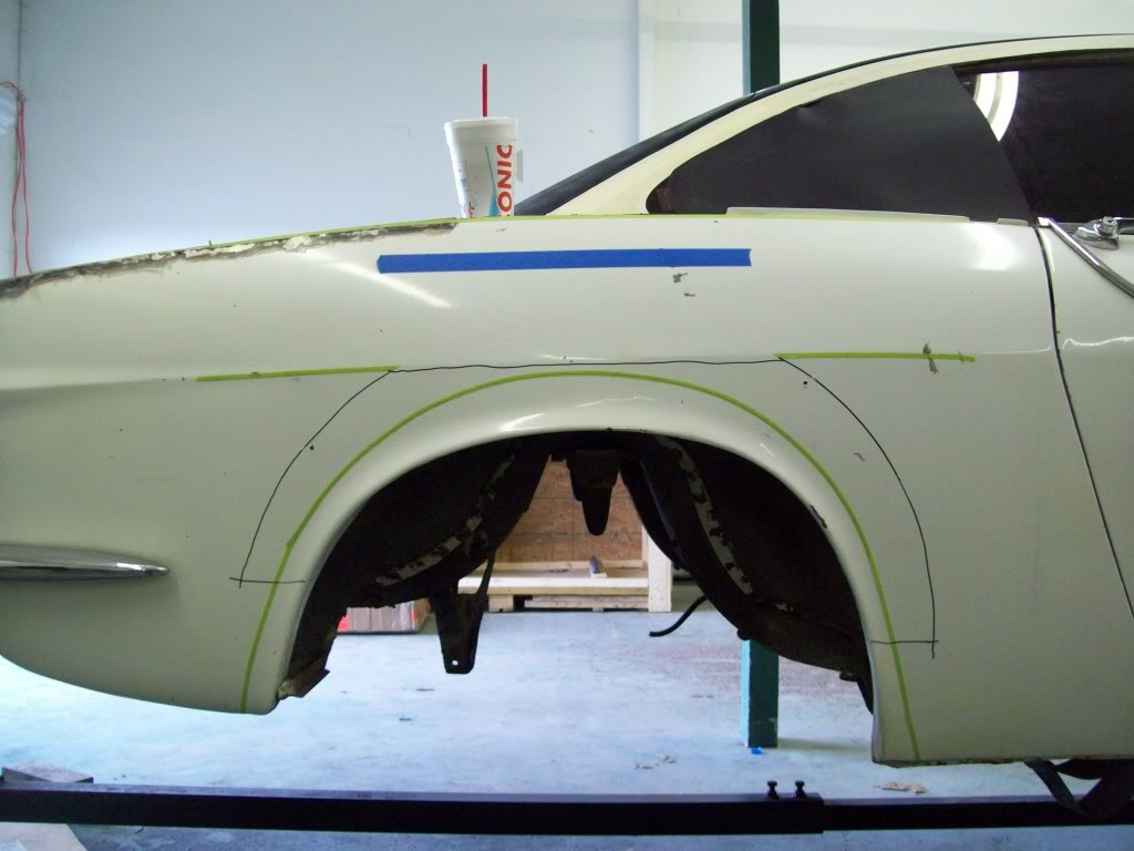 Volvo P1800 custom rear arches