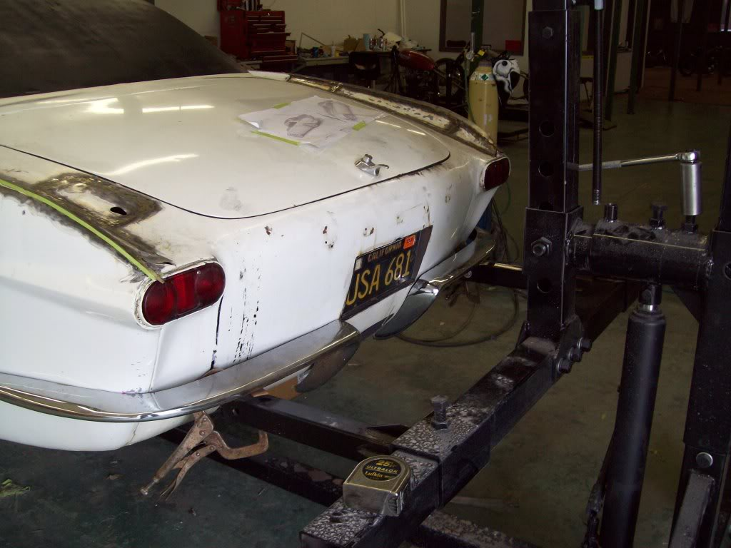 Volvo P1800 custom license plate