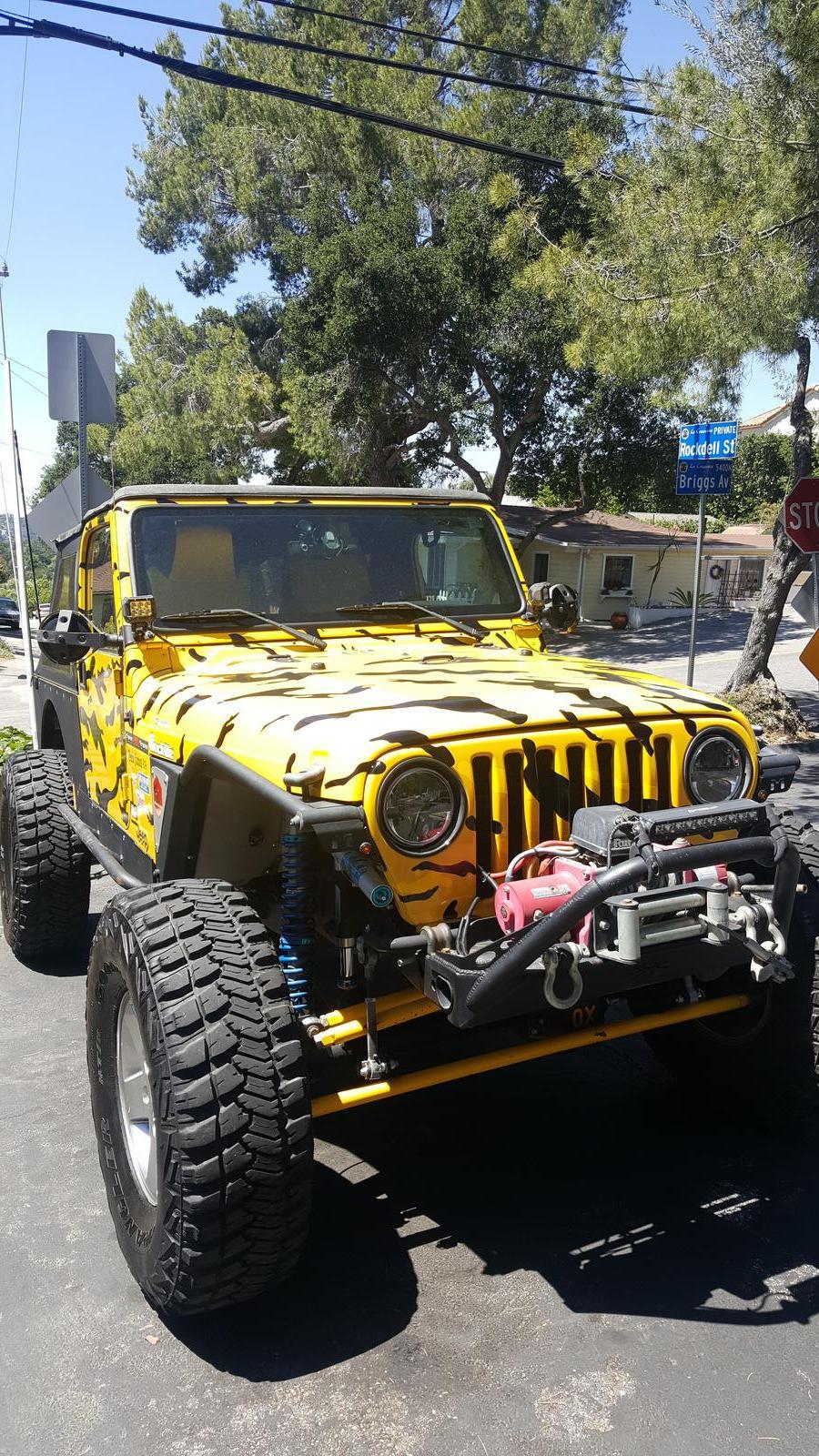 Tk S Yellow Krait Ljk Buildup By Tkfx Jeep Wrangler Tj Builds