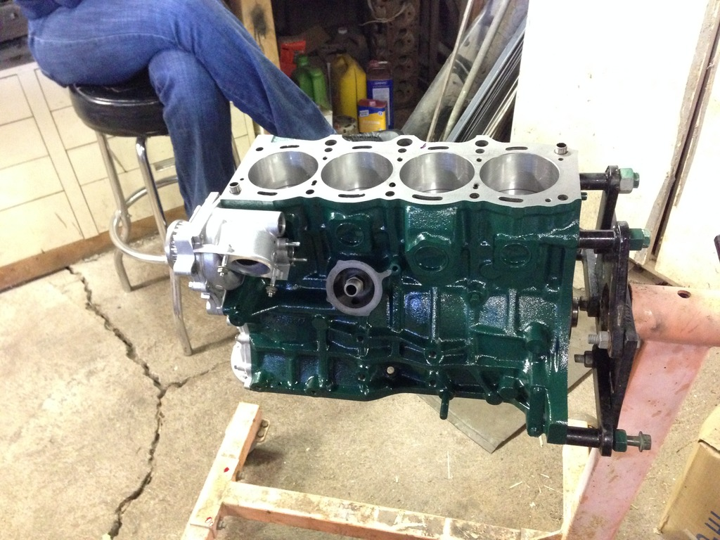 5sgte engine build (beams black top head, CNC ported) by