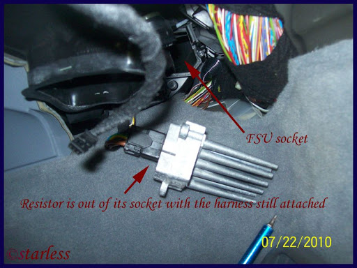Fsu aka blower motor resistor replacement pictorial for How much is a blower motor for a car