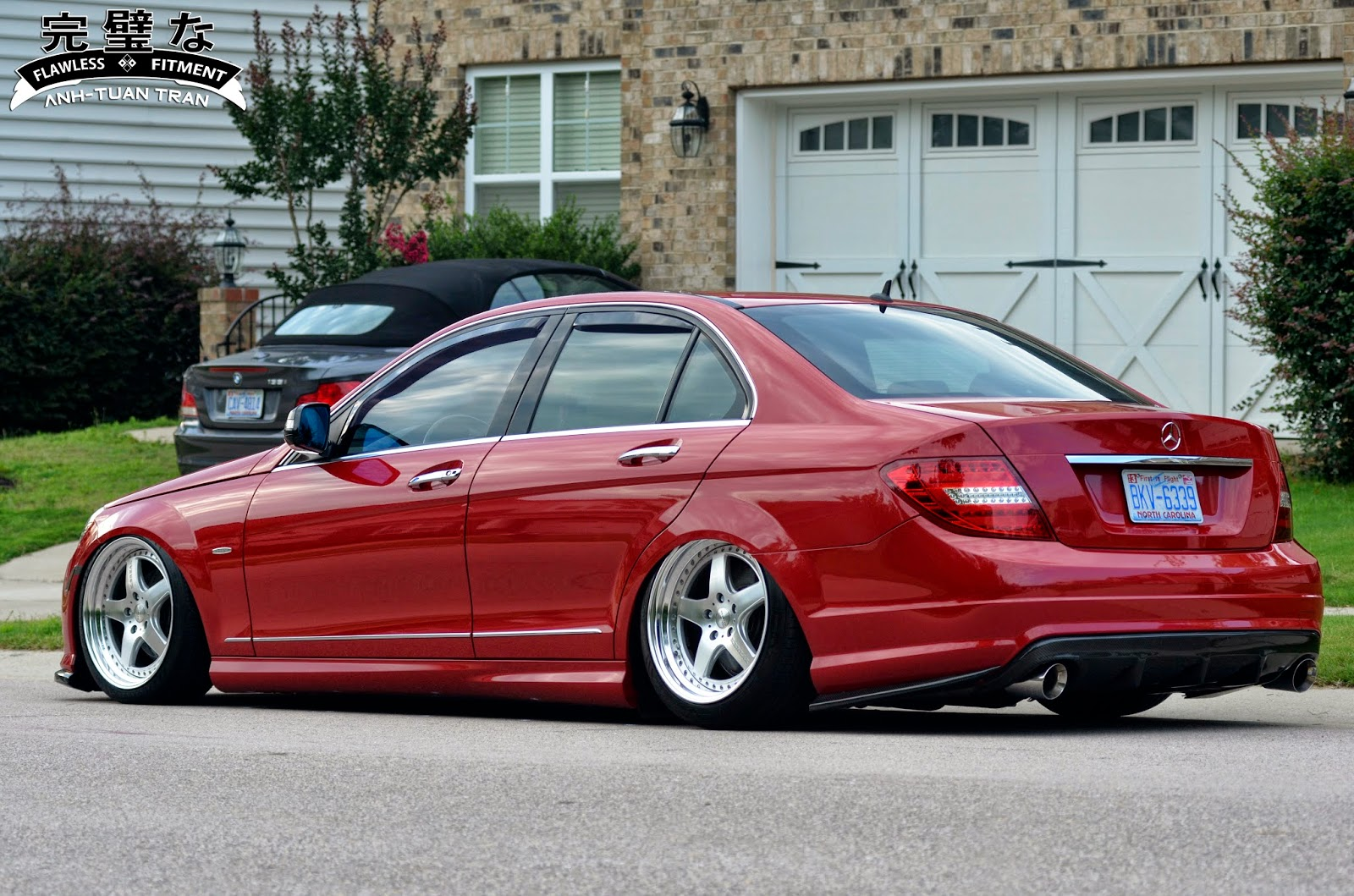 My c300 on k break hybreed fivestas by for Mercedes benz c300 aftermarket accessories