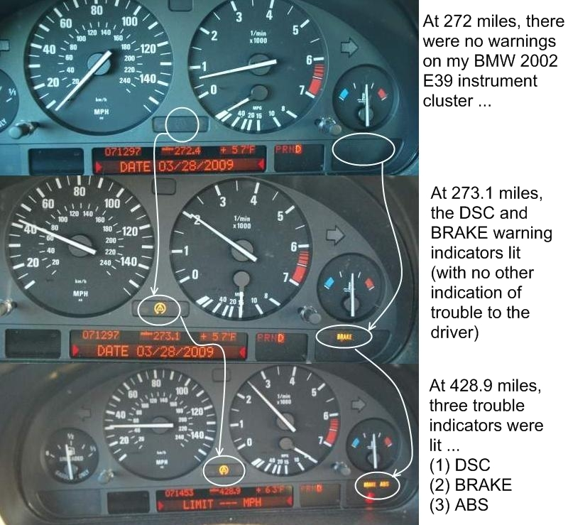 List Of All Possible Bmw E39 Instrument Cluster Text Warnings Amp Text Messages By Bluebee