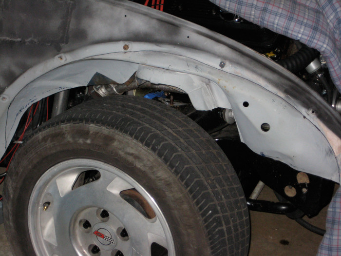 VW Beetle fender well