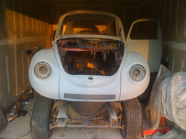 VW Beetle on frame