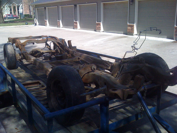 Chassis on trailer
