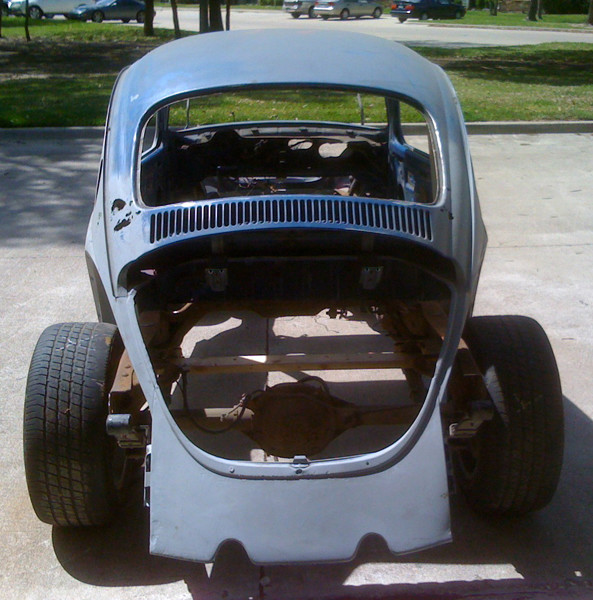 VW Beetle with chassis