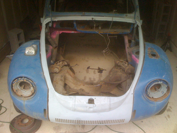 VW Beetle with frame