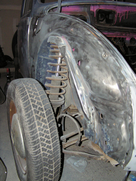 VW Beetle fenders removed