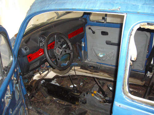 VW Beetle stripped interior