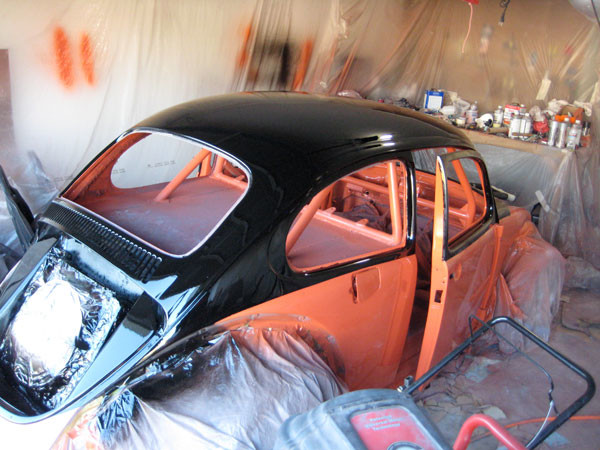VW Beetle painting