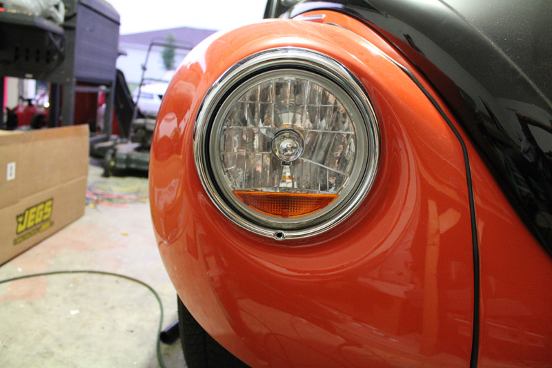 VW Beetle headlight