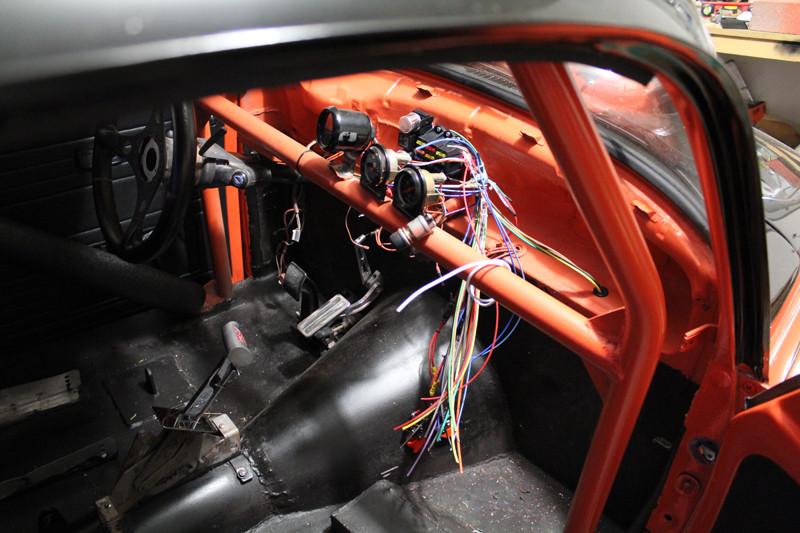 V8 VW Beetle interior wiring