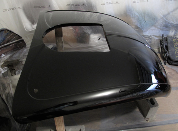VW Beetle painting hood