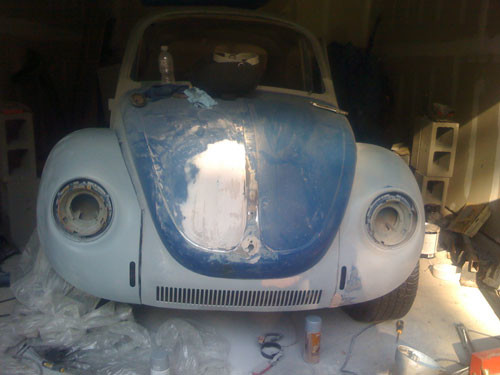 VW Beetle body work