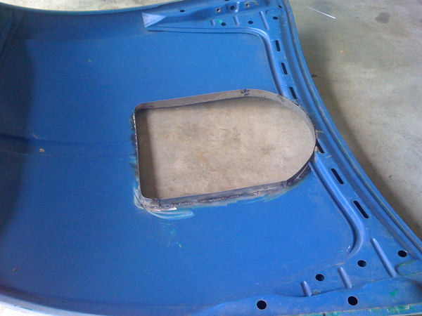 VW Beetle hood scoop